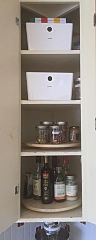Organized Corner Kitchen Cabinet