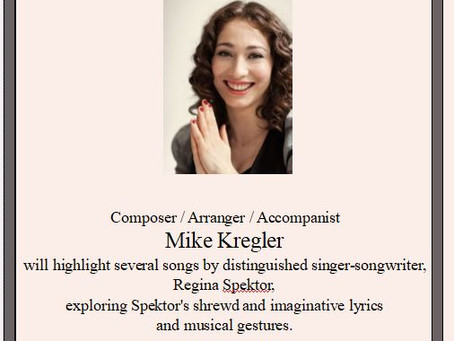 """""""I Hear in my Mind/All of this music...."""" The Songs of Regina Spektor"""