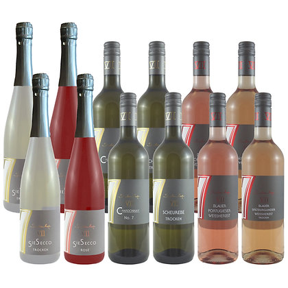 Pro2a Probierpaket Sommer 12 Wein Weinprobe zu Hause Broschüre geleitet Weingut Siebenhof Zotzenheim Rheinhessen Qualität