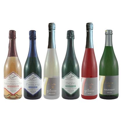 Pro8 Probierpaket feine Perle Sekt Weinprobe zu Hause Broschüre geleitet Weingut Siebenhof Zotzenheim Rheinhessen Qualität