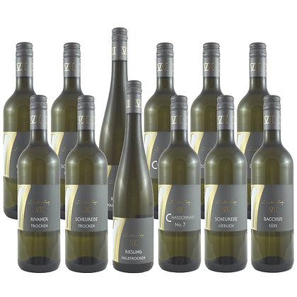 Pro4a Probierpaket Weißwein 12 Wein Weinprobe zu Hause Broschüre geleitet Weingut Siebenhof Zotzenheim Rheinhessen Qualität