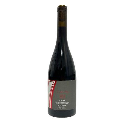 c4 Blauer Spätburgunder Rotwein trocken  Rotwein Literwein Qualitätswein Weingut Siebenhof Zotzenheim Rheinhessen