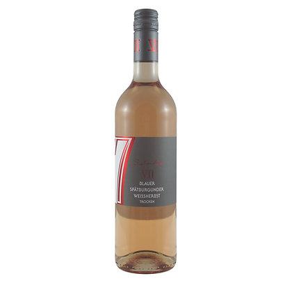 c6 Spätburgunder Weißherbst Rosé trocken feinherb Rotwein Weingut Siebenhof Zotzenheim Rheinhessen