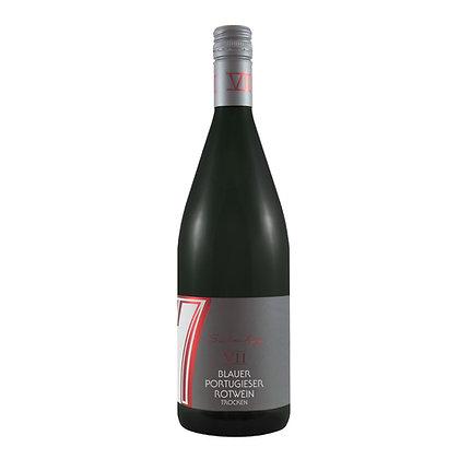 c1 Blauer Portugieser trocken Rotwein Literwein Qualitätswein Weingut Siebenhof Zotzenheim Rheinhessen Rheinhessenwein