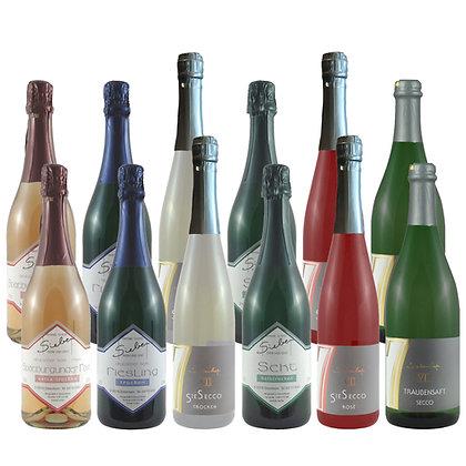 Pro8a Probierpaket feine Perle Sekt Weinprobe zu Hause Broschüre geleitet Weingut Siebenhof Zotzenheim Rheinhessen Qualität