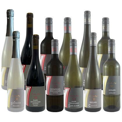 Pro3a Probierpaket Herbst 12 Wein Weinprobe zu Hause Broschüre geleitet Weingut Siebenhof Zotzenheim Rheinhessen Qualität