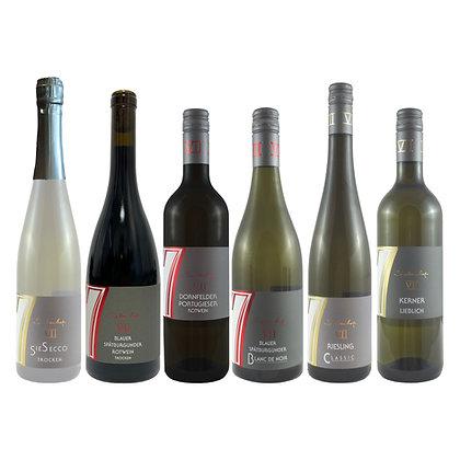 Pro3 Probierpaket Herbst 6 Wein Weinprobe zu Hause Broschüre geleitet Weingut Siebenhof Zotzenheim Rheinhessen Qualität