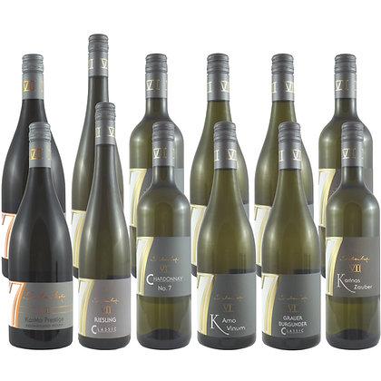 Pro5a Probierpaket Weißwein exklusiv Weinprobe zu Hause Broschüre geleitet Weingut Siebenhof Zotzenheim Rheinhessen Qualität