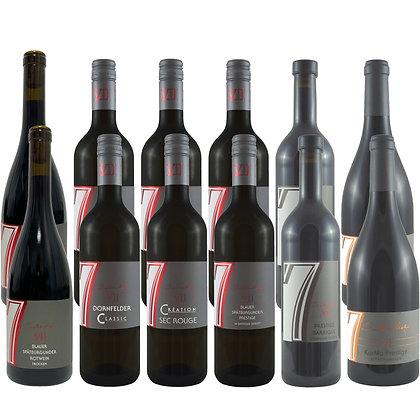 Pro7a Probierpaket Rotwein exklusiv Weinprobe zu Hause Broschüre geleitet Weingut Siebenhof Zotzenheim Rheinhessen Qualität