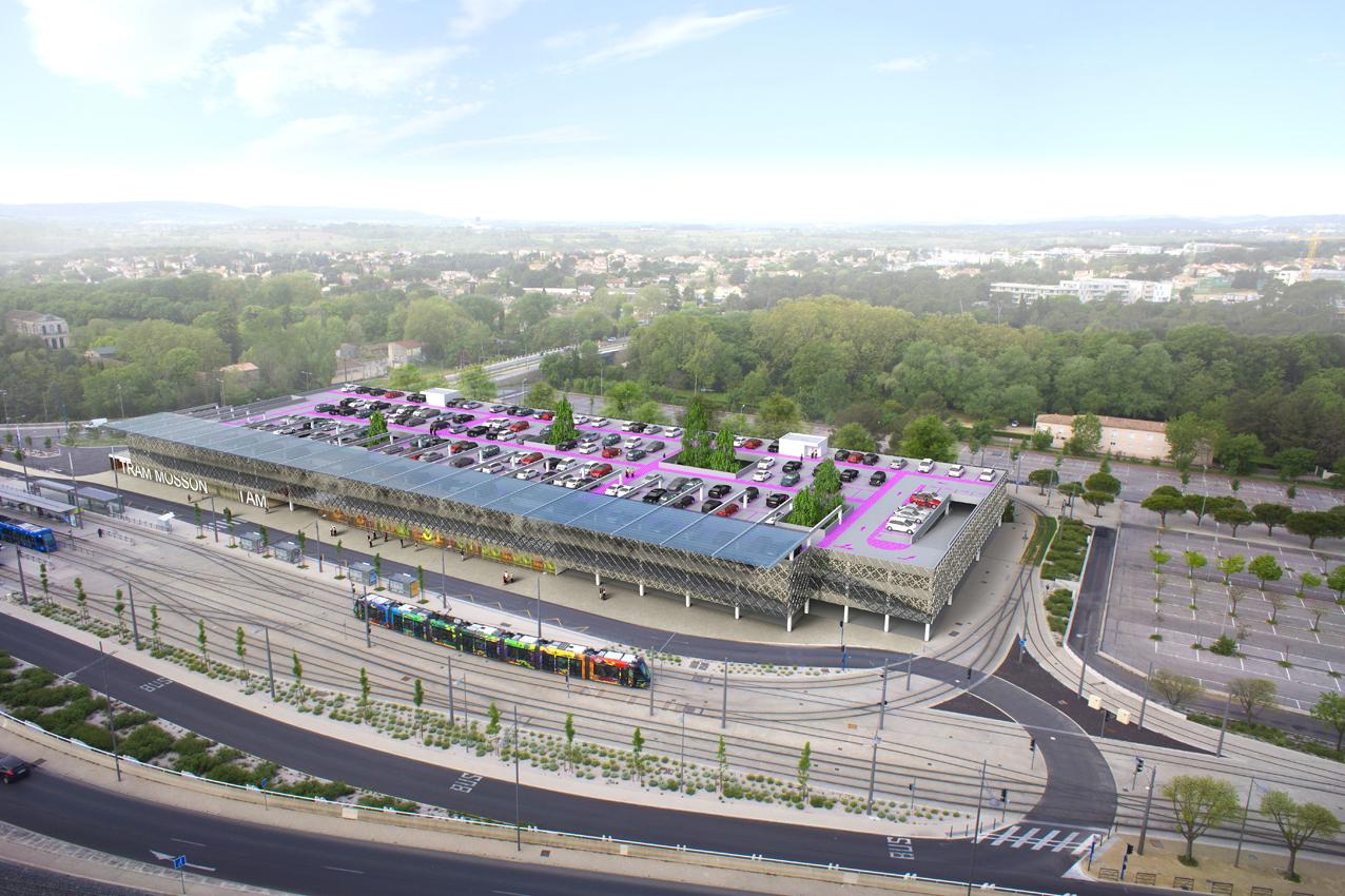 Montpellier, Parking Tam