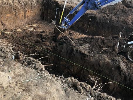 ドッグプールの掘削完了
