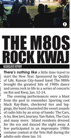 The M80s in Kwaj