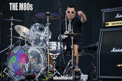 The M80s band - drummer