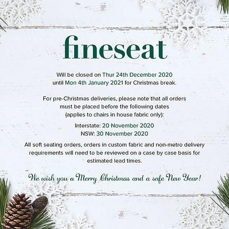 Fineseat Christmas Closure 2020 Website.