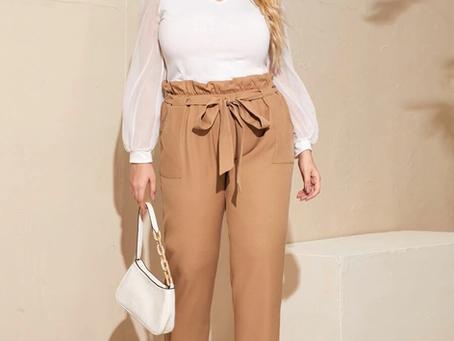 Paperbag Waist Belted Pants