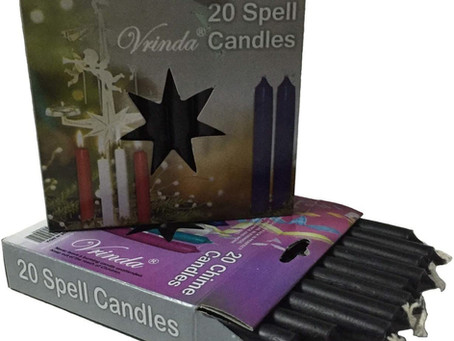 Set of 20 Black Mini Ritual Chime/Altar/Spell Candles
