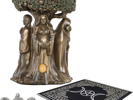 A Little Witchy Review: Triple Goddess Altar Starter Kit