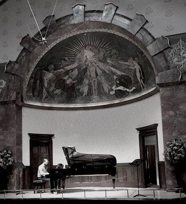 rehearsing 'Aftermath' at Wigmore Hall