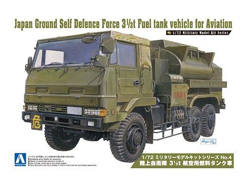 Aoshima Military Model 1/72 JGSDF 3 1/2t Fuel Tank Vehicle for Aviation