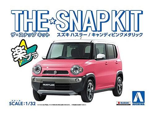Aoshima Snap Kit 1-B 1/32 Suzuki Hustler [Candy Pink Metallic]