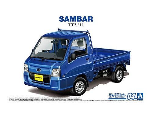 Aoshima Model Car No.4 1/24  Subaru Sambar TT2 '11