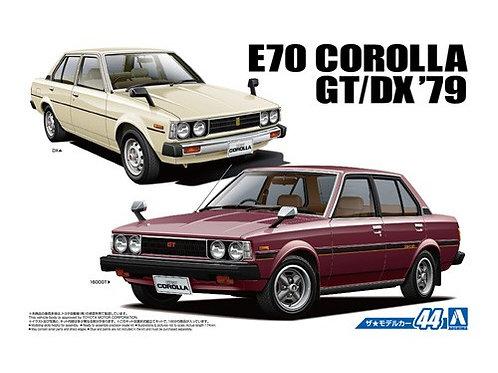 Aoshima Model Car No.44 1/24 Toyota E70 Corolla GT/DX '79
