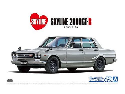 Aoshima Model Car No.45 1/24 Nissan Skyline 2000GT-R PGC10 '70