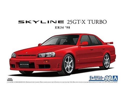Aoshima Model Car No.98 1/24 Nissan Skyline 25GT-X Turbo ER34   '98