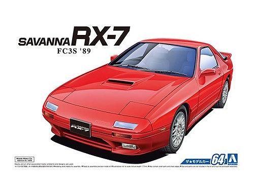 Aoshima Model Car No.64 1/24 Mazda Savanna RX-7 FC3S '89