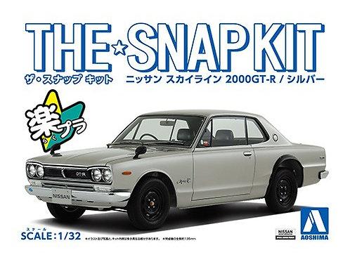 Aoshima Snap Kit 9-A 1/32 Nissan Skyline 2000GT-R[Silver]