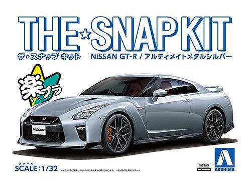 Aoshima Snap Kit 1/32 Nissan GT-R [Ultimate Metal Silver]