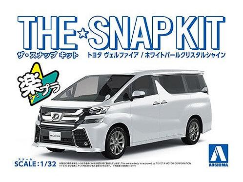 Aoshima Snap Kit 4-A 1/32 Toyota Vellfire [White Pearl Crystal Shine]