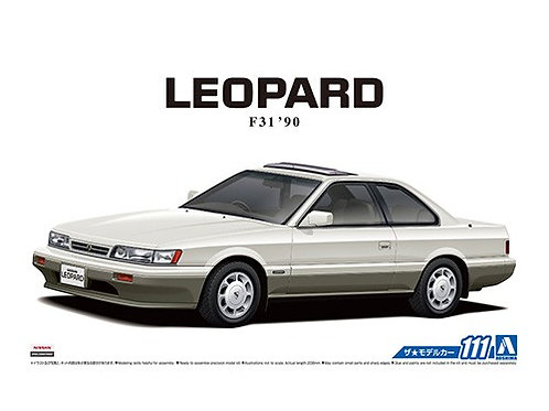 Aoshima Model Car No.111 1/24 Nissan Leopard F31 '90