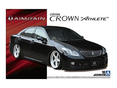Aoshima Tuned Car 1/24 Toyota Crown [Athlete] [Aimgain]