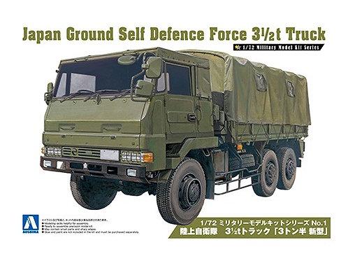 Aoshima Military Model 1/72 JGSDF 3 1/2t Truck