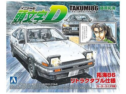 Aoshima Initial D 1/32 Takumi86 Retractable [Toyota]