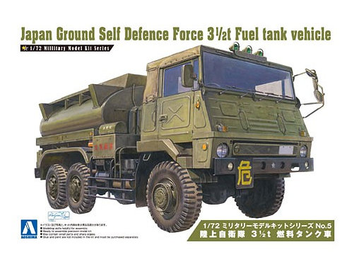 Aoshima Military Model 1/72 JGSDF 3 1/2t Fuel Tank Vehicle