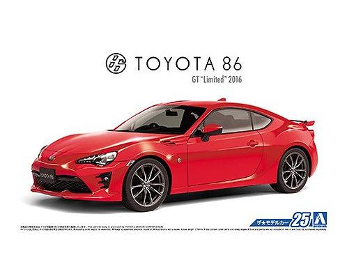 "Aoshima Model Car No.25 1/24 Toyota 86 GT ""Limited"" 2016"