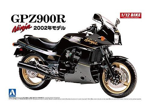 Aoshima Bike 1/12 Kawasaki GPZ900R Ninja '02 Model