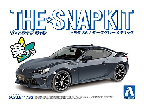 Aoshima Snap Kit 3-C 1/32 Toyota 86 [Dark Grey Metallic]