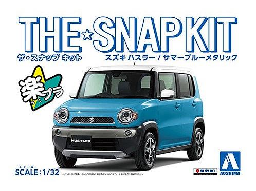Aoshima Snap Kit 1-C 1/32 Suzuki Hustler [Summer Blue Metallic]