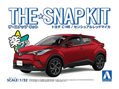 Aoshima Snap Kit 1/32 Toyota C-HR [Sensual Red Mica]