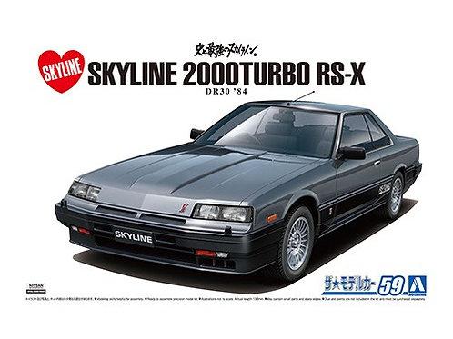 Aoshima Model Car No.59 1/24 Nissan Skyline 2000Turbo RS-X DR30 '84