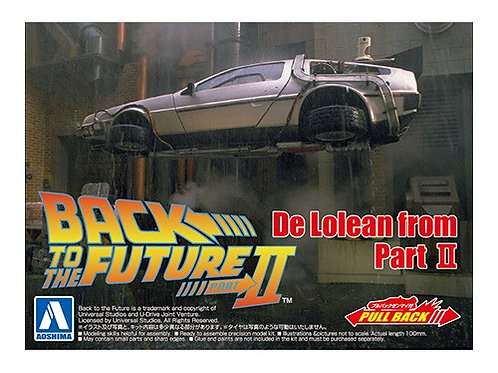 Aoshima Back to the Future II 1/43 Delorean [w/Pullback Function]