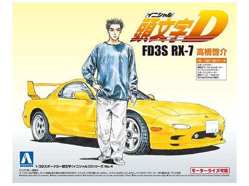 Aoshima Initial D 1/32 FD3S RX-7 Keisuke Takahashi