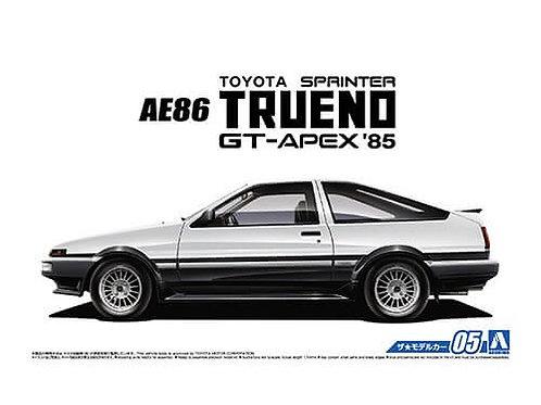 Aoshima Model Car No.5 1/24 Toyota AE86 Sprinter Trueno GT-APEX '85