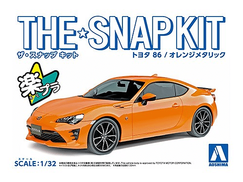 Aoshima Snap Kit 3-B 1/32 Toyota 86 [Orange Metallic]