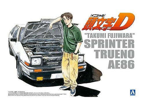 "Aoshima Initial D 1/24 ""Takumi Fujiwara"" Sprinter Trueno"