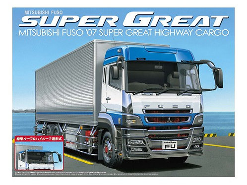 Aoshima Heavy Freight 1/32 Mitsubishi Fuso '07 Super Great Highway Cargo