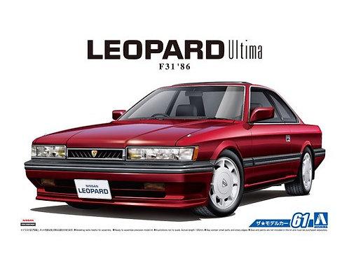 Aoshima Model Car No.61 1/24 Nissan Leopard Ultima F31 '86